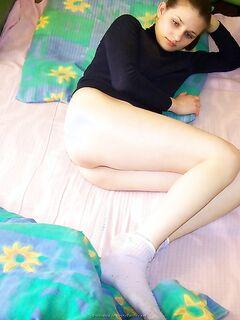 Грудастая домохозяйка осталась без нижнего белья